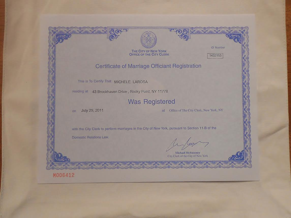 NY Officiant Registration